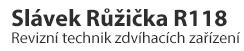 Slávek Růžička R118 - inspekce - revize - revizní zkoušky - školení jeřábníků, vazačů, obsluh pracovních zvedacích plošin